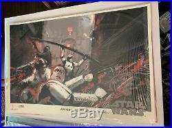Jock Star Wars Into The Garbage Shoot SDCC Variant Movie Poster Print Mondo