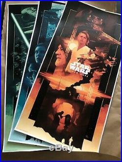 John Guydo Star Wars Trilogy Variant Print SET Of 3 Posters BNG NT Mondo 115/200