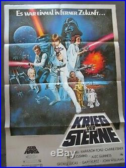 KRIEG DER STERNE Filmplakat A1 STAR WARS George Lucas