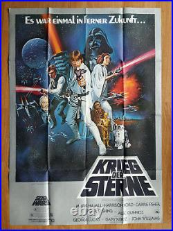 KRIEG DER STERNE seltenes Din A0 Plakat STAR WARS 1978 Grafik TOM CHANTRELL