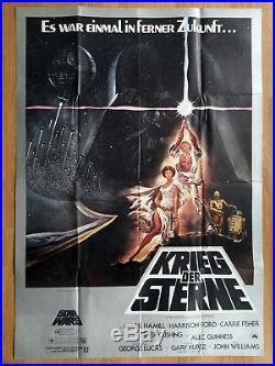 KRIEG DER STERNE seltenes Din A0 Plakat STAR WARS 1978 Grafik TOM JUNG
