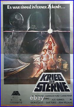 KRIEG DER STERNE super seltenes Din A00 Plakat STAR WARS 1978 Grafik TOM JUNG