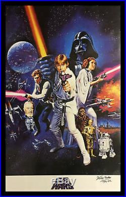 Kenny Baker R2d2 Signed Framed Star Wars New Hope Full Size Movie Poster Proof