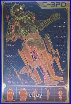 Kevin Tong C-3P0 Star Wars Mondo Movie Poster Print Signed Linch Pin Droid