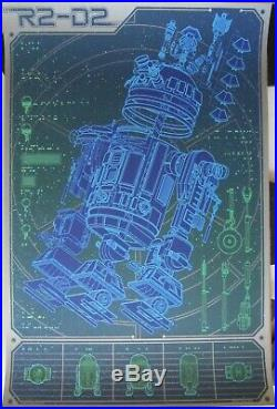 Kevin Tong Linch Pin Droid R2D2 Star Wars Mondo Movie Poster Print NOT MINT