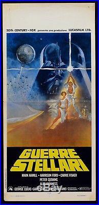 L95 Locandina Guerre Stellari Star Wars 1 Edizione 1977 First Italian Edition
