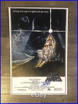 MARK HAMILL (Luke Skywalker) signed 11x14 photo 1/8 inch cardstock JSA/COA