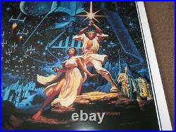 MINT STAR WARS style B (numbered) MOVIE POSTER 15th (Hildebrandt) ROLLED 1992