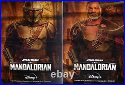 Mandalorian Extremely Rare Lenticular Bus Stop Poster Style B Star Wars