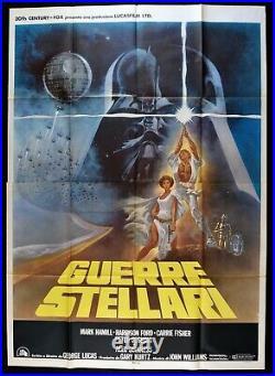 Manifesto GUERRE STELLARI star wars 1 edizione italiana 1977 lucas ford M268