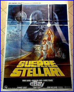 Manifesto Poster Affiche Cinema Guerre Stellari Star Wars Lucas Fantascienza USA