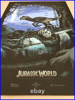 Mark Englert JURASSIC WORLD Poster Mondo Movie Print PARK Star Wars PCC Richard