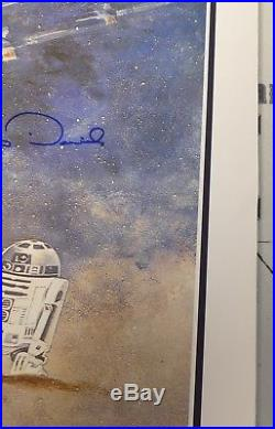 Mark Hamill Carrie Fisher Kenny Baker + 3 Cast Signed Star Wars Poster BAS COA