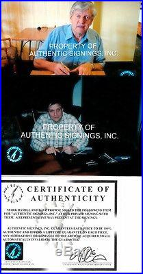 Mark Hamill Dave Prowse signed auto Star Wars ROTJ 16x20 photo poster FRAMED COA