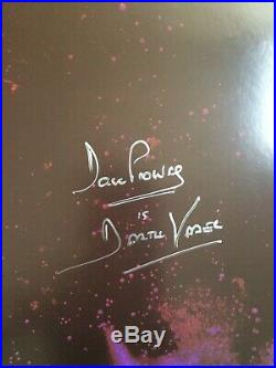 Mark Hamill, James Earl Jones, Dave Prowse Star Wars Signed Poster. Not OPX