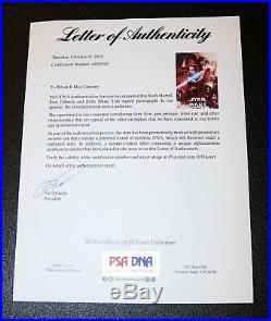 Mark Hamill Johnson Cast X3 Signed Star Wars The Last Jedi 12x18 Poster PSA JSA