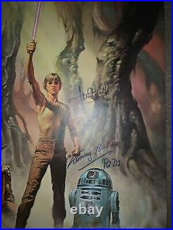 Mark Hamill, Kenny Baker Cast Signed Star Wars Coke Limited Poster Beckett BAS
