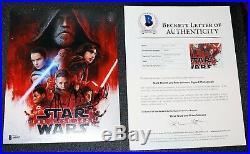 Mark Hamill Rian Johnson Signed Star Wars Last Jedi Autograph 8x10 Beckett PSA