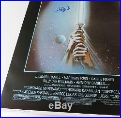 Mark Hamill STAR WARS RETURN OF THE JEDI Signed Autograph 27x40 Movie Poster