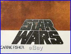 Mark Hamill signed Star Wars Poster a new hope with beckett coa Hamill hologram
