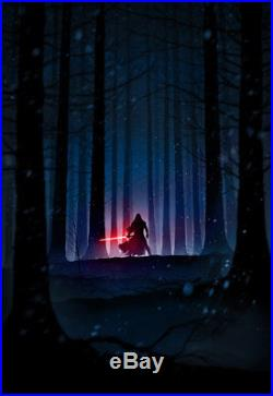 Marko Manev Star Wars Force Awakens Kylo Rey Finn Set Movie Poster Print Mondo
