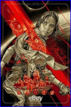 Martin Ansin ROGUE ONE Variant Art Print Movie Poster Mondo Star Wars Skywalker