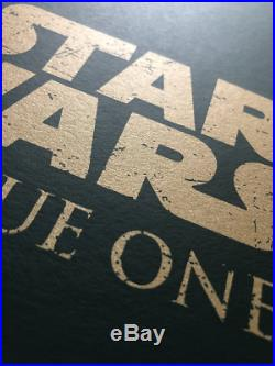 Matt Ferguson ROGUE ONE Star Wars Movie Poster Print BNG not Mondo