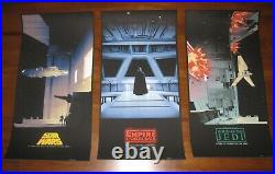 Matt Ferguson STAR WARS SAGA Triptych Screen Print Poster Set BNG 33/2550