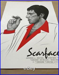Mike Mitchell SCARFACE Movie Poster Mondo Print SDCC Con Portrait Star Wars Bird