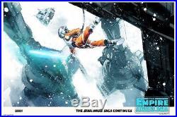 Mondo Star Wars empire strikes back Poster Jock armor too strong Print Variant