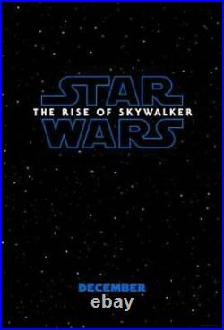 NEW STAR WARS The Rise of Skywalker Original DS TEASER Movie Poster 27x40