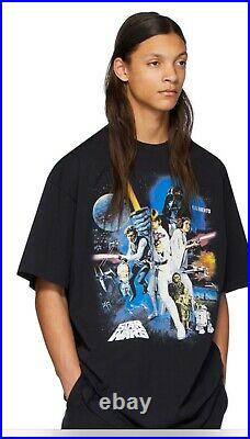 New Authentic VETEMENTS Star Wars Poster T Shirt Small S Oversized Men Fits M