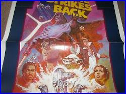 ORIGINAL EMPIRE STRIKES BACK movie poster 27x41 1982 star wars