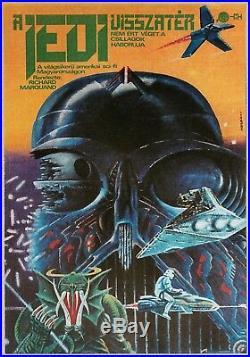 ORIGINAL Hungarian Return of the Jedi MOVIE POSTER 1984 STAR WARS POST-SOC