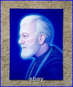 Obi Wan Kenobi Mike Mitchell Star Wars Portrait Art Print Poster Mondo