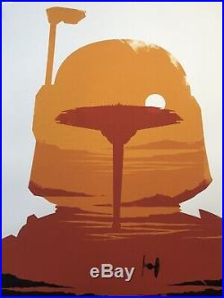 Olly Moss Star Wars The Empire Strikes Back Mondo Print Movie Art Poster ESB