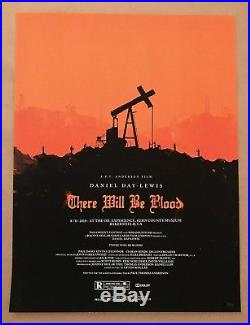 Olly Moss THERE WILL BE BLOOD Poster 2010 Mondo 18x24 Screen Print Star Wars
