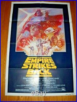Origina R-1982 Star Wars The Empire Strikes back one sheet poster NRMNT! (A)