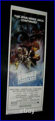 Original 14x36 ROLLED Star Wars EMPIRE STRIKES BACK STYLE A RECALLED ADVANCE