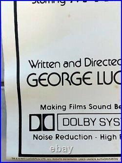 Original 1977 Star Wars Movie Promo Poster Rare Vintage 100% Made In USA 24x36