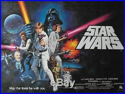 Original 1977'Star Wars' Pre-Oscar UK Quad Poster