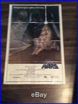 Original 1977 Star Wars style A movie poster