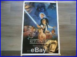 Original 1983 Star Wars ROTJ Return Of The Jedi Movie Poster 27x41 One Sheet B