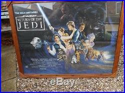 Original 1983 Uk Quad Film Poster Star Wars Return Of The Jedi