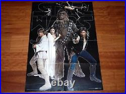 Original Movie Poster Star Wars A New Hope 1977 Folded Swedish Scandecor Vhtf