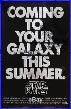 Original Star Wars 1977 US 1 Sheet, Film/Movie Poster