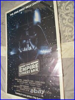 Original Star Wars Empire Strikes Back 1980 Advance Movie Poster