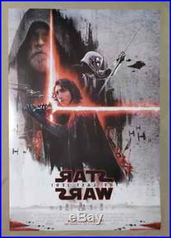 Original Star Wars The Last Jedi DS Double Sided 27X40 Movie Poster Set of 2