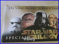 Original Star Wars Trilogy Movie Poster Special Edition 72x36 Vinyl Banner EUC