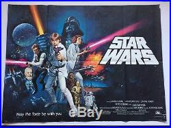 Original Star Wars, UK Quad, Film/Movie Poster 1977, Chantrell, Pre Oscar